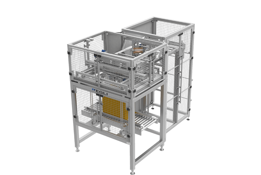 Машина для вложения пакета в короб — EBI