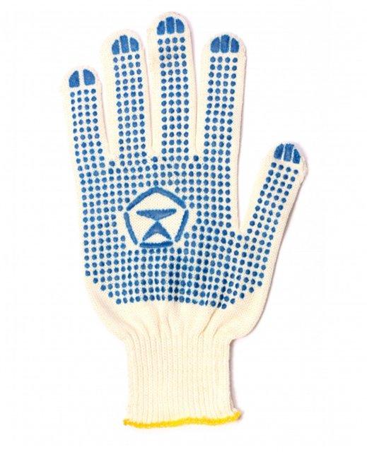 Перчатки х/б 10 класс вязки легкие с ПВХ покрытием «точка»